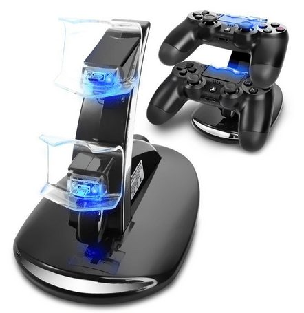 Crazy Genie PS4 USB Charging Charger Docking Station Stand for Playstation 4 PS4 Game Controllers