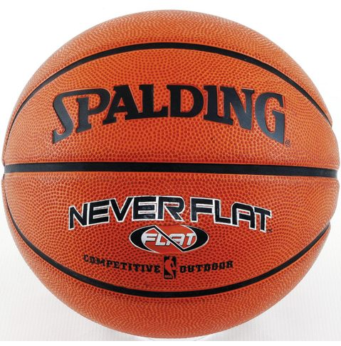 Spalding Never Flat Outdoor Official Size Basketball - Gift For Kids - A Thrifty Mom