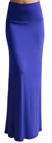 Women's Rayon Span Regular to Plus Size Maxi Skirt - A Thrifty Mom