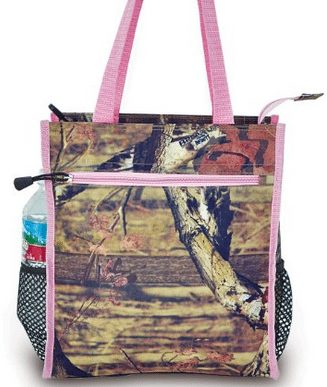 Mossy Oak Real Tree pinko Camo lunch box, Muddy girl school lunch box, great for picnics or hikes