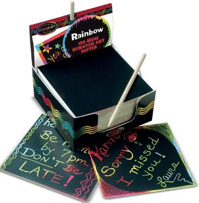 Melissa and Doug Scratch Art Pad, tween or teen gift ideas, my girls think these are the coolest thing ever