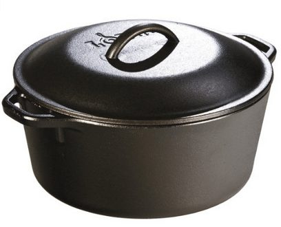Lodge Pre-Seasoned Cast-Iron Dutch Oven with Dual Handles