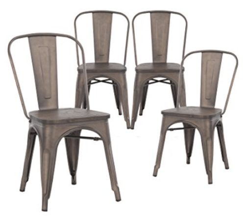 Metal Indoor/Outdoor Stackable Chairs