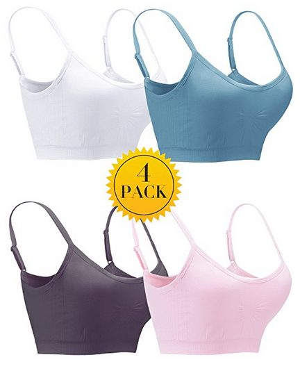 4 Pack Seamless Wirefree Bralettes