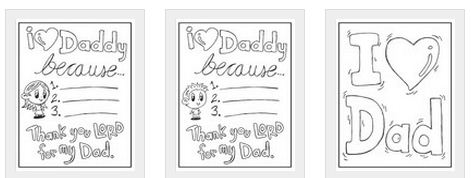 Free Fathers Day Coloring Sheets