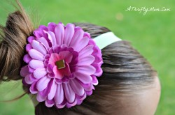 DIY Flower hair Clips for under a dollar8