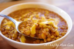 Mexican Lentil Soup, Money Saving Recipe