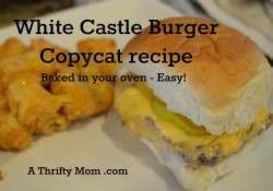 White Castle Burger Copycat recipe