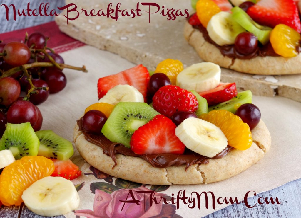 Nutella Breakfast Pizzas, Recipes Using Nutella Spread, Easy Kid Friendly Breakfast Recipes, Kid Friendly Recipes, Money Saving Recipes