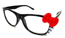 Hello Kitty red bow glasses rockabilly pinup fashion style board