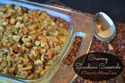 Creamy Zucchini Casserole, great way to use up the zucchini from your garden.  The whole family loved it