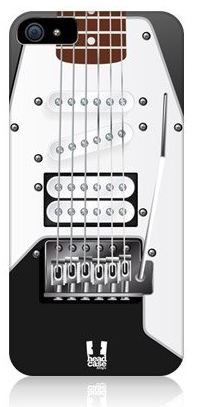 Black and White Guitar iPhone 5 Case