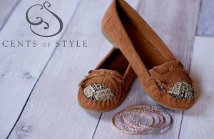 Cents of Style moccasin and bracelets