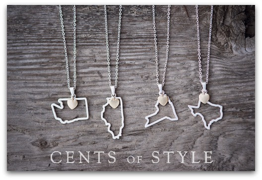 Cents of Style ~ 4 state necklaces