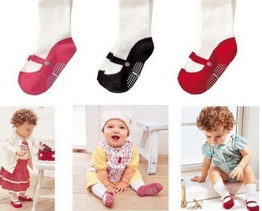 Baby leggings with feet, and anti skid slippers. FREE SHIPPING amazon deal