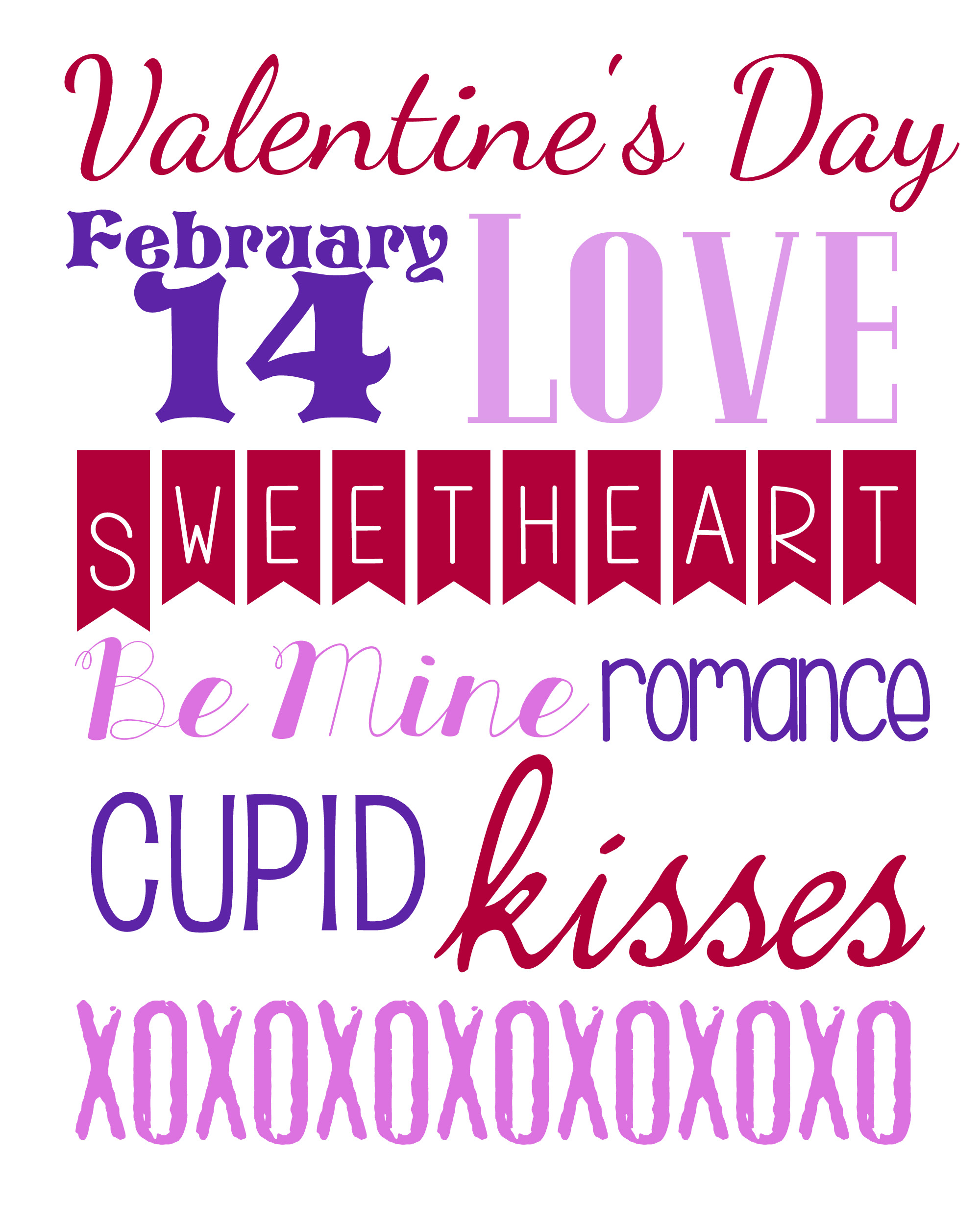 valentine's day printable, #valentinesday, #printable, #subwayart, #freeprintable, #thriftydecor, #thriftyvalentinesday