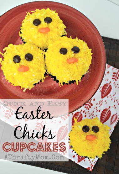 Easter Chick Cupcake recipe, How to make Easter Chicken CupCakes #Cupcakes #easter #Chicks #coconut
