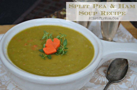 Split pea and ham soup, so easy to make and taste great.  Made with dry peas, low cost meal idea.  Hurst's Hampeas