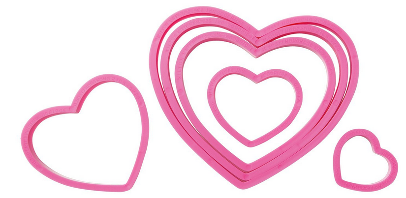 Wilton Nesting Hearts Cookie Cutters