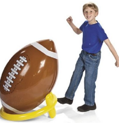 lifesized football, perfect for family reunions, parties and summer fun #Teens, #Parties, #summer, #Outdoor