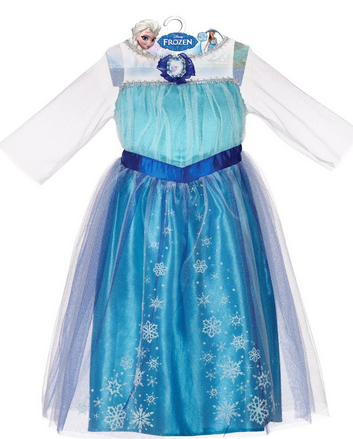 Frozen Disney Dress, Dress Up as Elsa from the hit Disney Film FROZEN, Elsa Costume #Elsa, #Frozen, #Dress