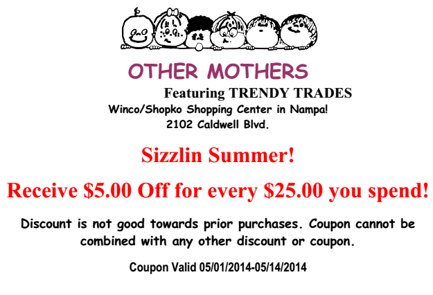 Other Mothers Coupon may 2014