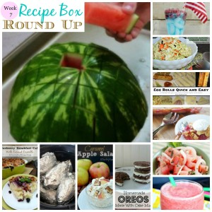 Recipe box collage