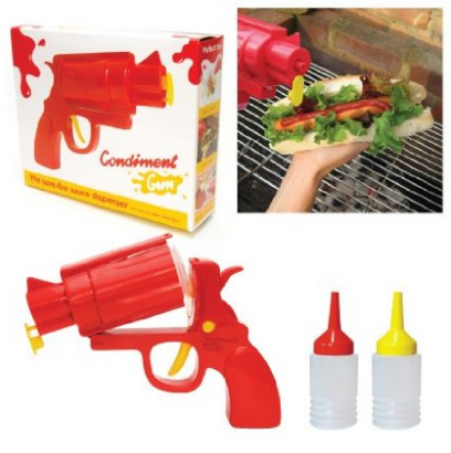 ketchup and mustard gun, great for camping or BBQ or for the Man Cave #amazon #FreeShipping