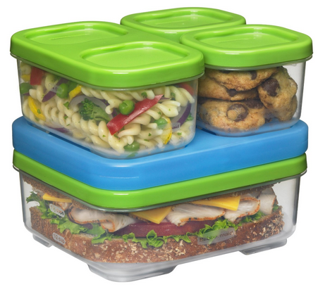 Rubbermaid Lunch Box Kit Green and Blue