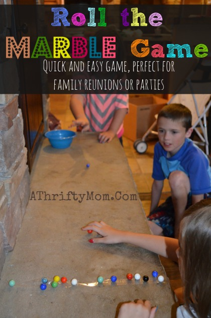 Roll the Marble Game, quick and easy game perfect for family reunion or parties #FamilyReunions, #Games, #Parties, #party