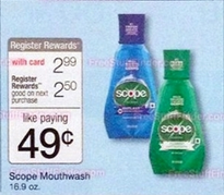 Scope mouthwash at Wags starting 8-31