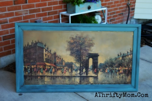 Upcycle, Trash to treasure yard sale find, Paint the frame for a whole new look