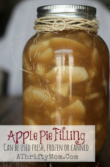 Apple Pie Filling Recipe, can be used fresh, frozen or canned #Apples, #ApplePie, #CanningRecipe, #ApplePieRecipe, #FrozenApplePie