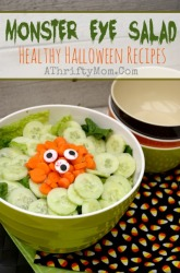 Healthy Halloween Recipes, Monster Eye Salad, Easy Halloween Recipes, Halloween treats