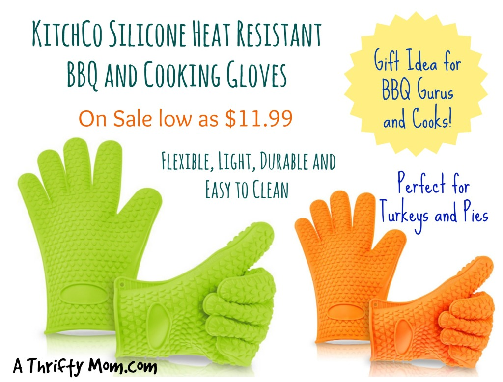KitchCo Silicone Heat Resistant BBQ and Cooking Gloves On Sale - Flexible, Light, Durable, and Easy to Clean - Perfect for Thanksgiving Turkeys and Pies #GiftIdea #Thanksgiving