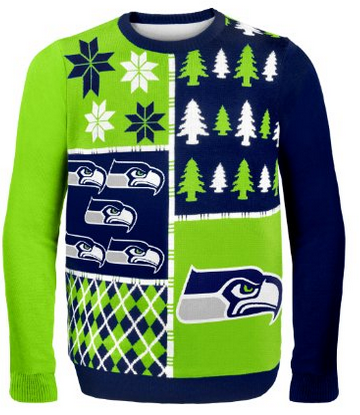 Ugly Christmas Sweater Seattle Seahawks On Sale Now