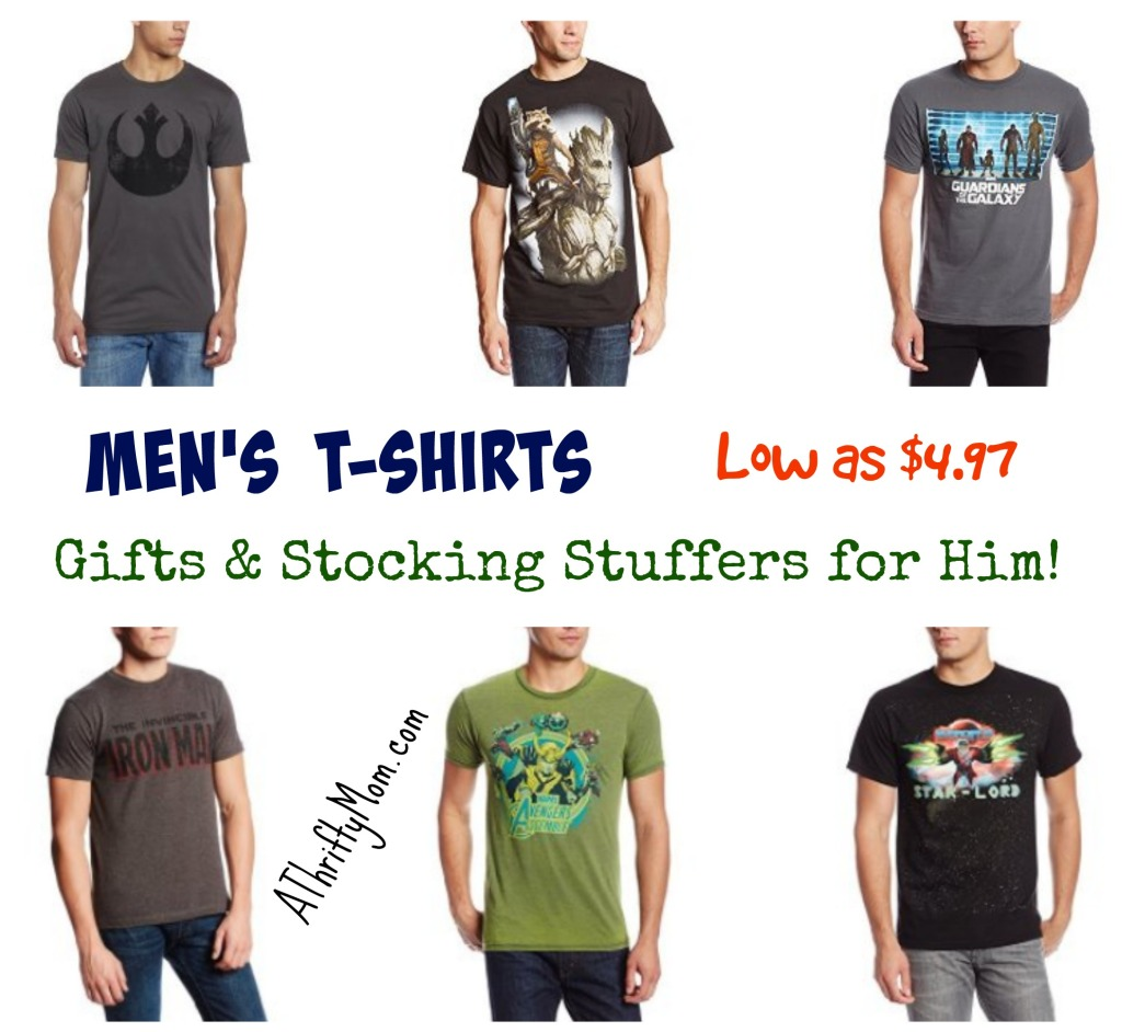 Men's T-Shirts Low as $4.97 - Gift Ideas and Stocking Stuffers for Him!