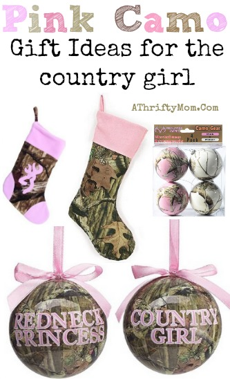 Pink Camo Christmas Tree Ornaments, Stockings, perfect for the country girl, or Duck Dynasty Fan