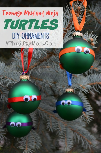 Teenage mutant ninja turtles ornaments DIY Christmas Ornaments, Easy Low cost Christmas Crafts for kids, Party Ideas, Party Crafts TMNT