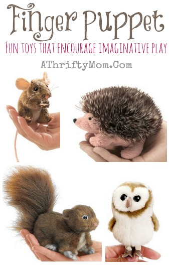 finger puppet hedgehog mouse squirrel and owl fun way to let kids be creative and tell stories, kids toys, gift ideas, quite play ideas