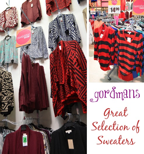 Christmas clothes for less, everything from t shirts to formal wear perfect for your Christmas Party.  All at a fraction of the price #Gordmans  Sweaters