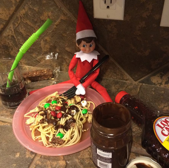 Elf on the Shelf easy ideas, What to do with your Elf, Silly Ideas for your Christmas Elf on the Shelf day 16