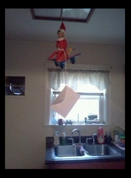 Elf on the Shelf easy ideas, What to do with your Elf, Silly Ideas for your Christmas Elf on the Shelf day 17
