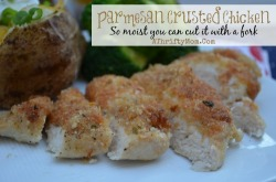 Parmesan crusted chicken recipe, this fast and easy recipe only has 4 ingedients and it is AMAZING. You would never know it has Best Foods mayo in it #Chicken #Recipe