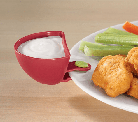 Dip Clips - Set of 4 - Keep your Ranch, Ketchup, Honey Mustard or other dip from running all around your plate - PERFECT!
