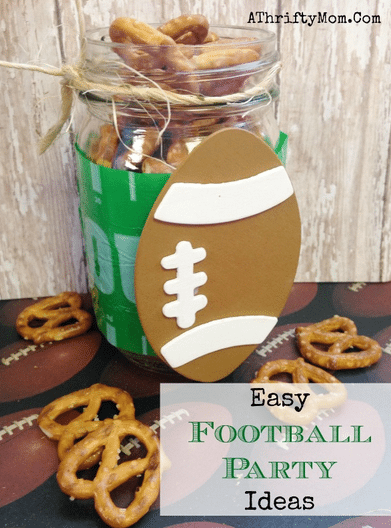 Football Party , Football  jar, low cost decorating ideas, #FootballParty,  #FootBall