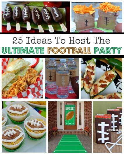 Football party Ideas for the ULTIMATE FOOTBALL PARTY, Food, decorations, drinks, and more, Superbowl party, NFL Night, GameDay made easy,