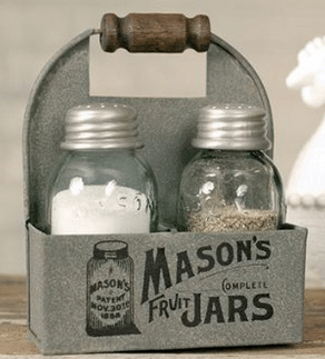 Home Decor For The Kitchen Mason Jar Salt And Pepper Love These Shabby Chic