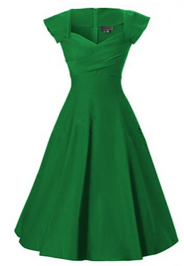 1950s Vintage Retro Party Swing Dress - Comes in black, red, navy and green - Love this dress!