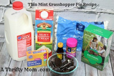 How to make Thin Mint Grasshopper pie recipe ingredients